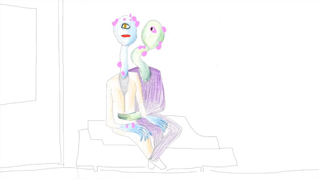 Illustration de deux aliens